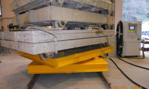 Self-locking rotating trolley